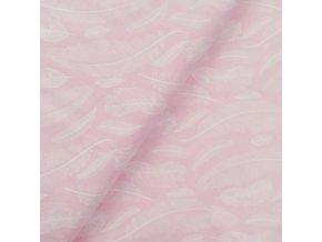 Plátno - Peříčka na růžové