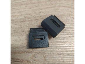 Brzdička, plastová na plochou šňůrku 12mm - černá