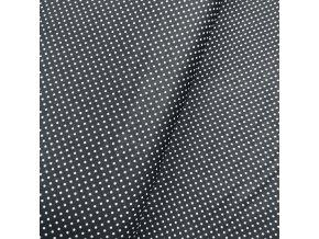 Plátno - Puntíky na černé