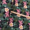 1736 Teplákovina Květy na zelené 2