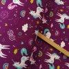 Zimní softshell 10/3 - Jednorožci s duhou, fialová