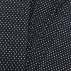 Umělé hedvábí | Silky - Bílé puntíky na tmavě modré
