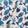 Plátno - Rybičky, modré š. 160