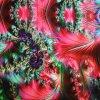 1057 viskoza páv růžový