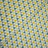 1197 Okrové, petrolejové, šedé trojúhelníky