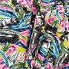 Umělé hedvábí | Silky - Květy s pírky
