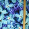 1424 Viskózový úplet Květy s rosou 2