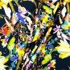 Umělé hedvábí   Silky - Květy na modré
