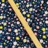 Zimní softshell - Kvítka na tmavě modré