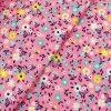 Zimní softshell - Kvítka na růžové