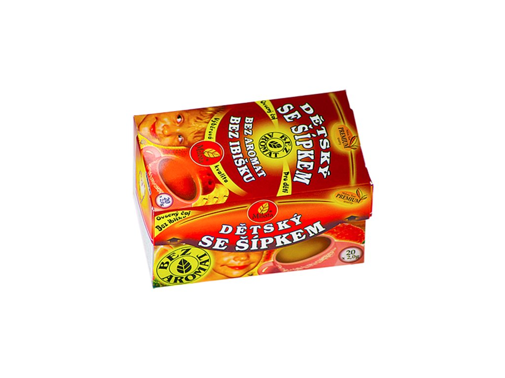 23810 detsky ovocny se sipkem 40g 20x2g bez aromat bez ibisku milota teas premium
