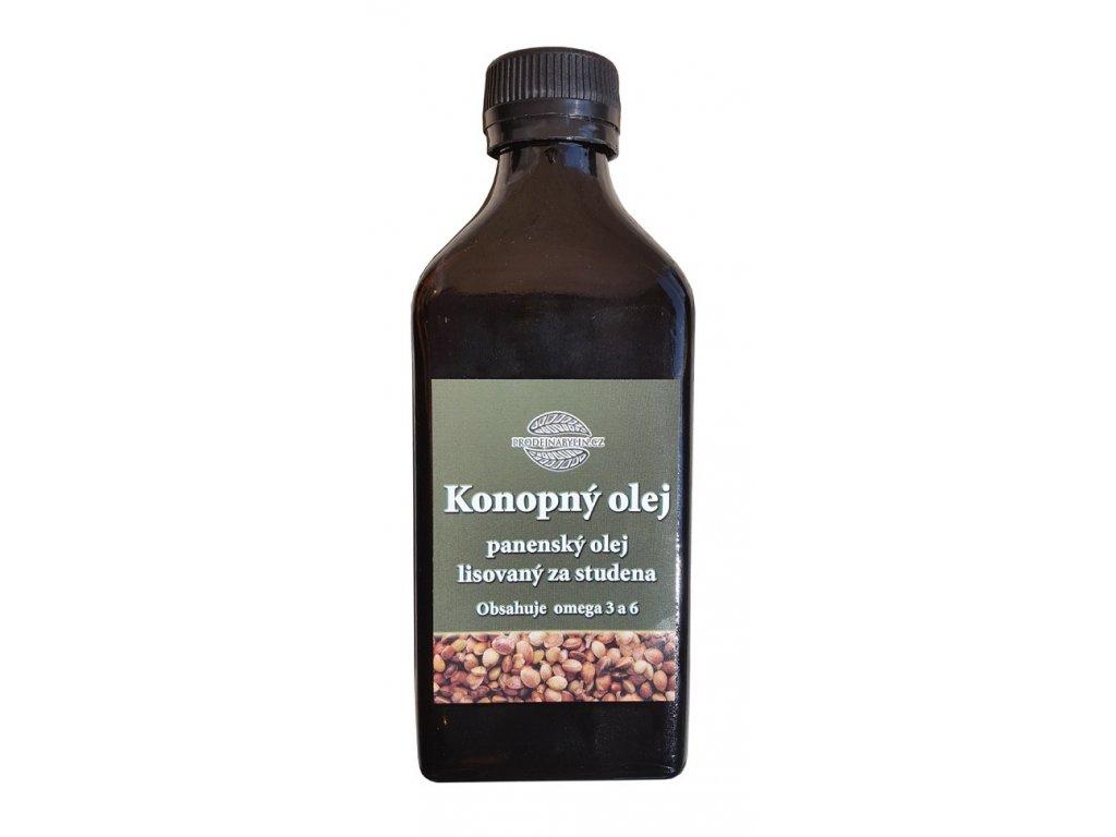 Konopný olej lisovaný za studena 200 ml RAW