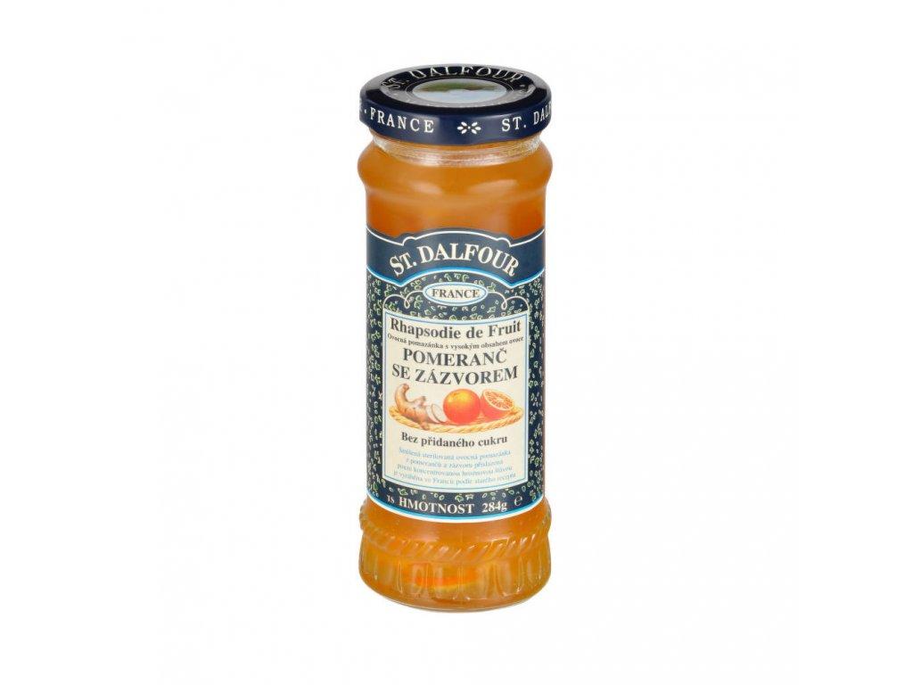 Džem ovocný pomeranč a zázvor 284 g DALFOUR