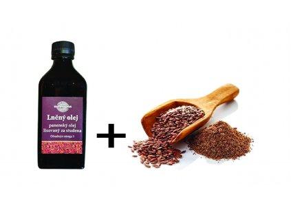 Lněný olej plus mouka