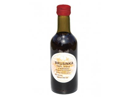 Brusinka 100% šťáva 250 ml