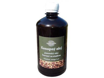 Konopný olej lisovaný za studena 500 ml RAW