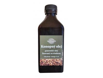 Konopný olej lisovaný za studena 1000 ml RAW
