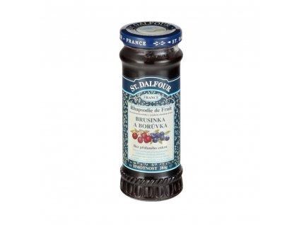 Džem ovocný brusinka a borůvka 284 g DALFOUR