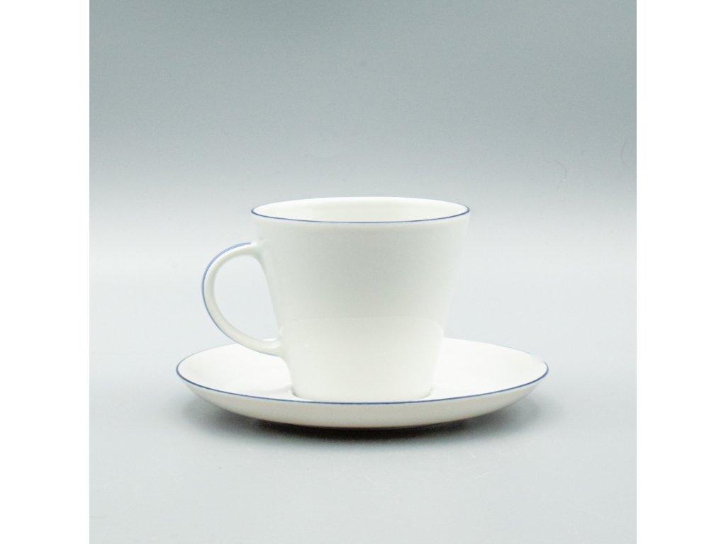 TOM modrá linka, Šálek s podšálkem espresso 100 ml, Thun