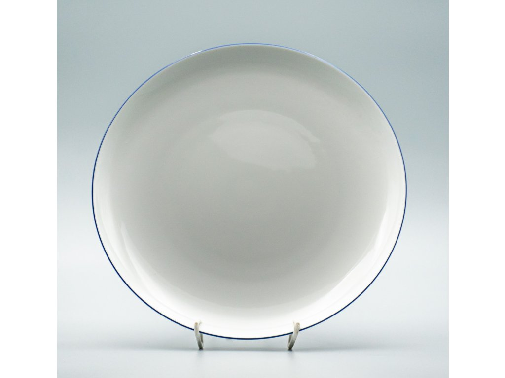 TOM modrá linka, Talíř mělký 26 cm, Thun