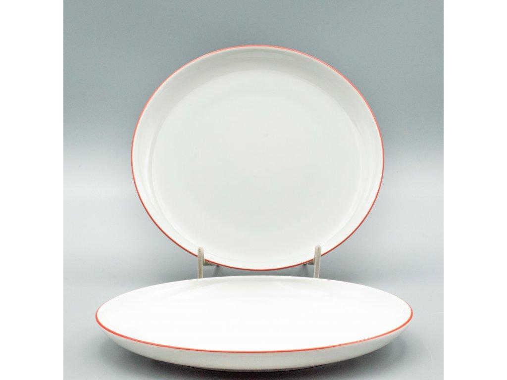 TOM červená linka, Talíř dezertní 19 cm, Thun