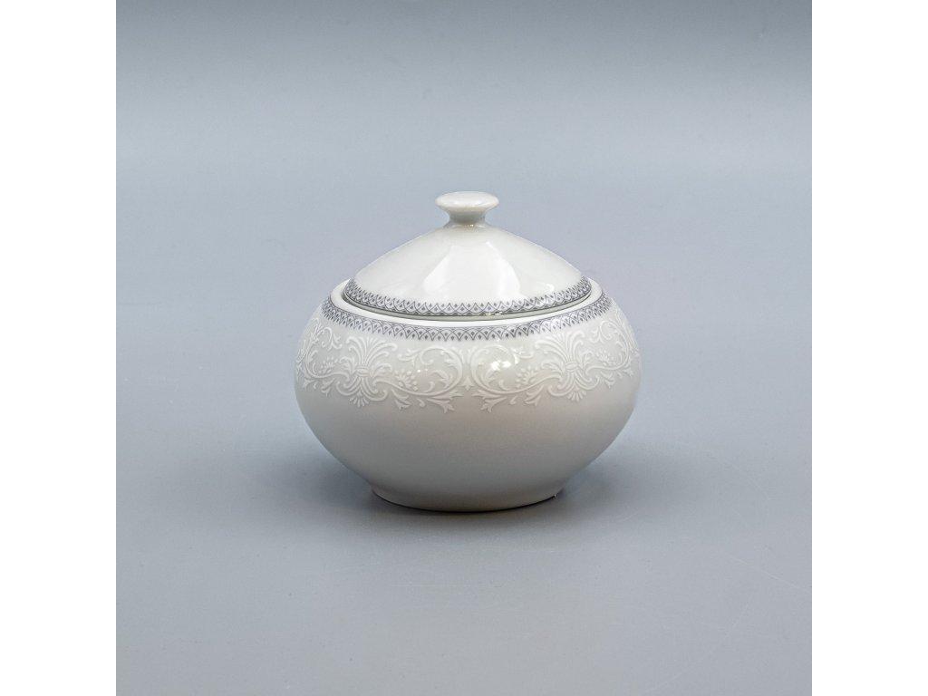 OPAL svatební šedá, Cukřenka 200 ml, krajka, Thun
