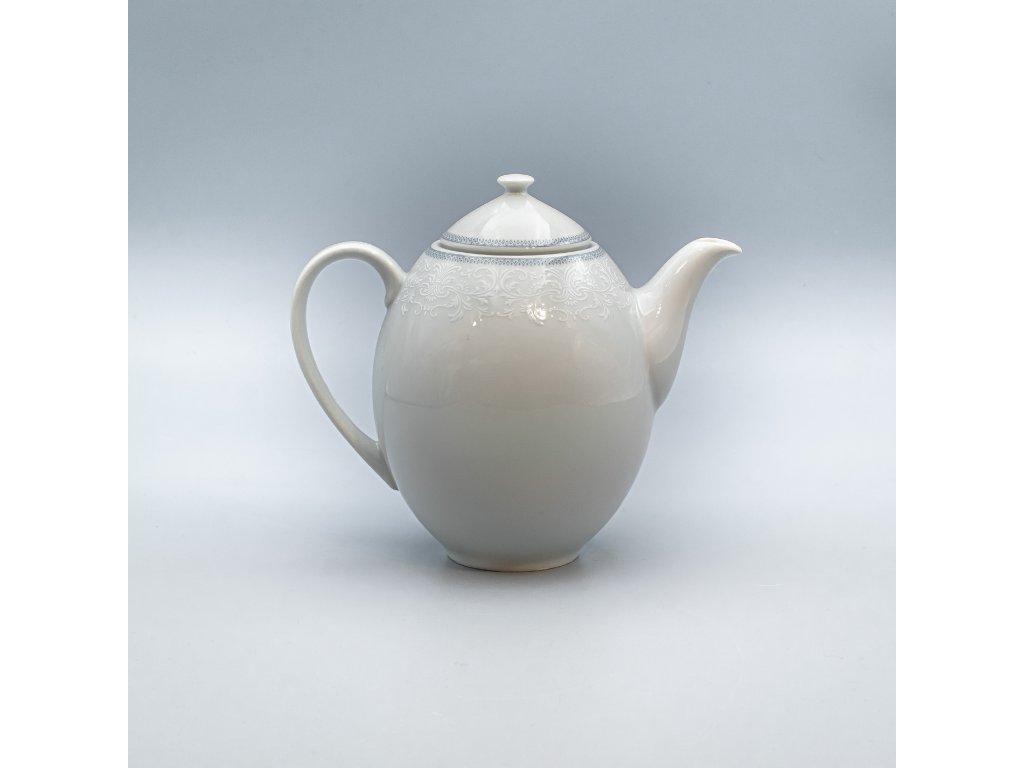 OPAL svatební šedá, Konvice kávová 1 200 ml, krajka, Thun