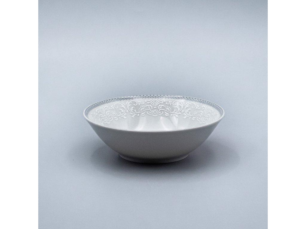 OPAL svatební šedá, Mísa kompotová Angelika 23 cm, krajka, Thun