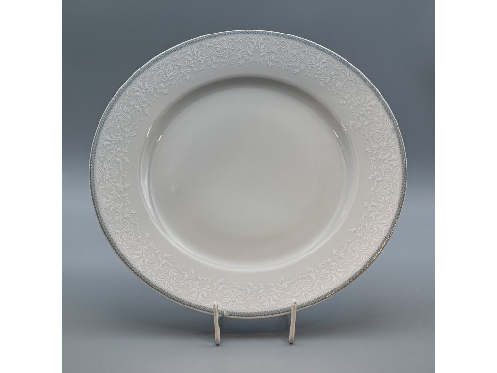 OPAL svatební šedá, Mísa mělká NINA 30 cm, krajka, Thun