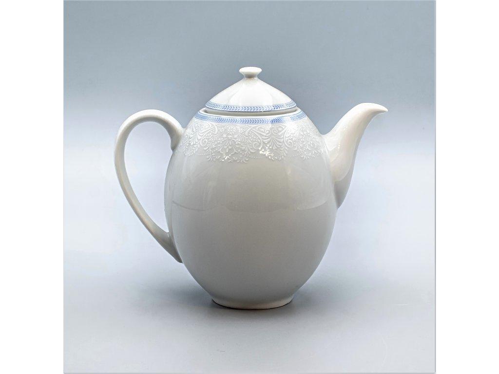 OPAL svatební modrá, Konvice kávová 1 200 ml, krajka, Thun
