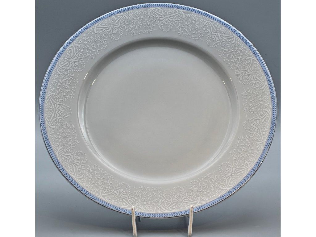 OPAL svatební modrá, Mísa mělká NINA 30 cm, krajka, Thun