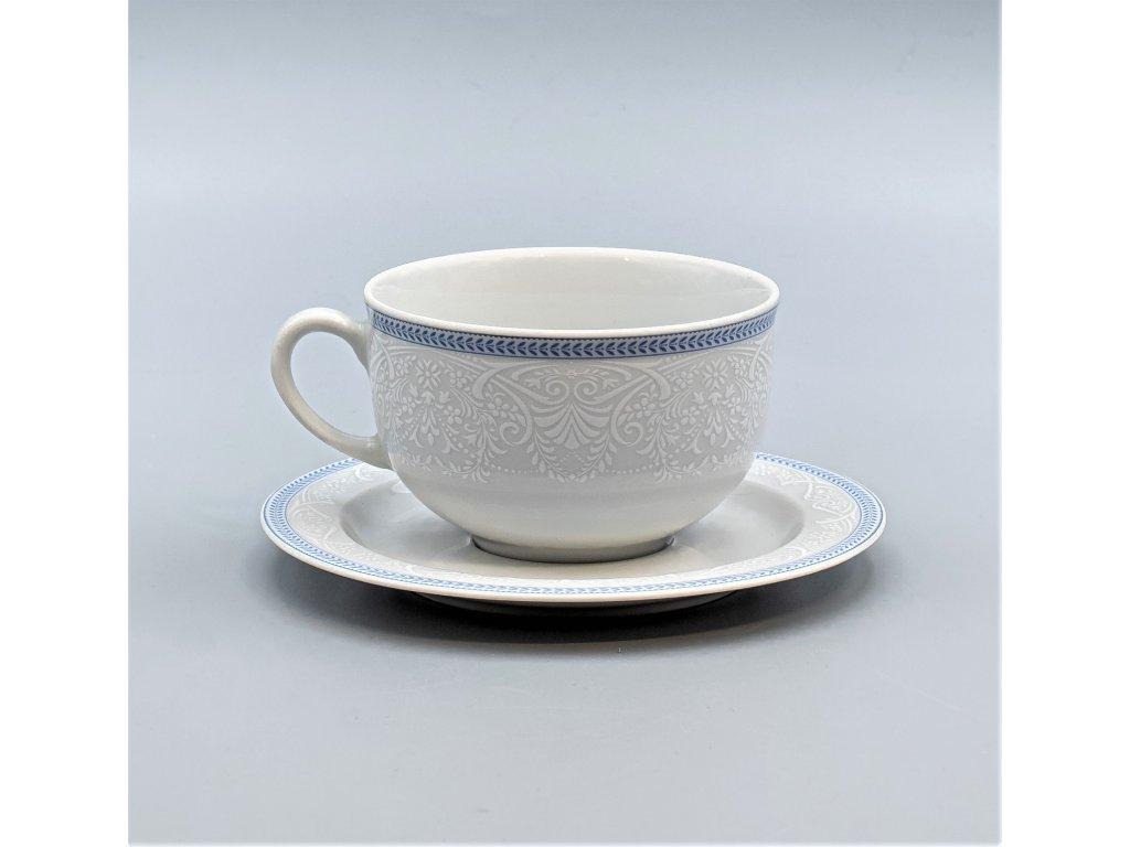OPAL svatební modrá, Šálek s podšálkem čajový nízký 280 ml, krajka, Thun