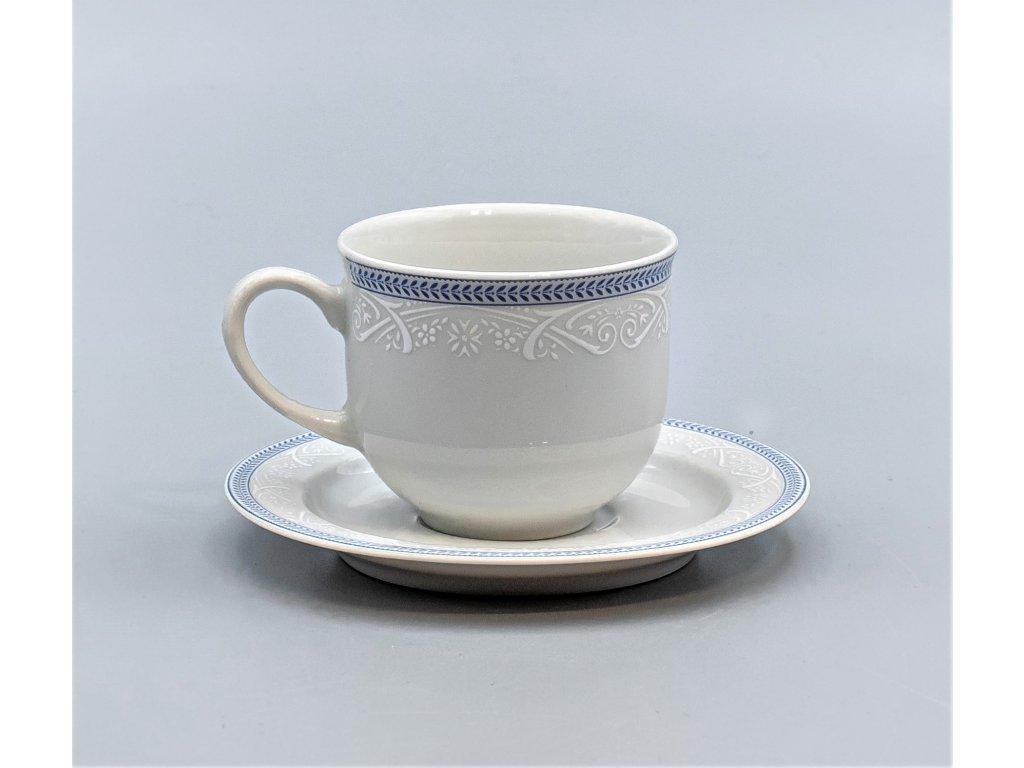 OPAL svatební modrá, Šálek s podšálkem čajový 270 ml, krajka, Thun