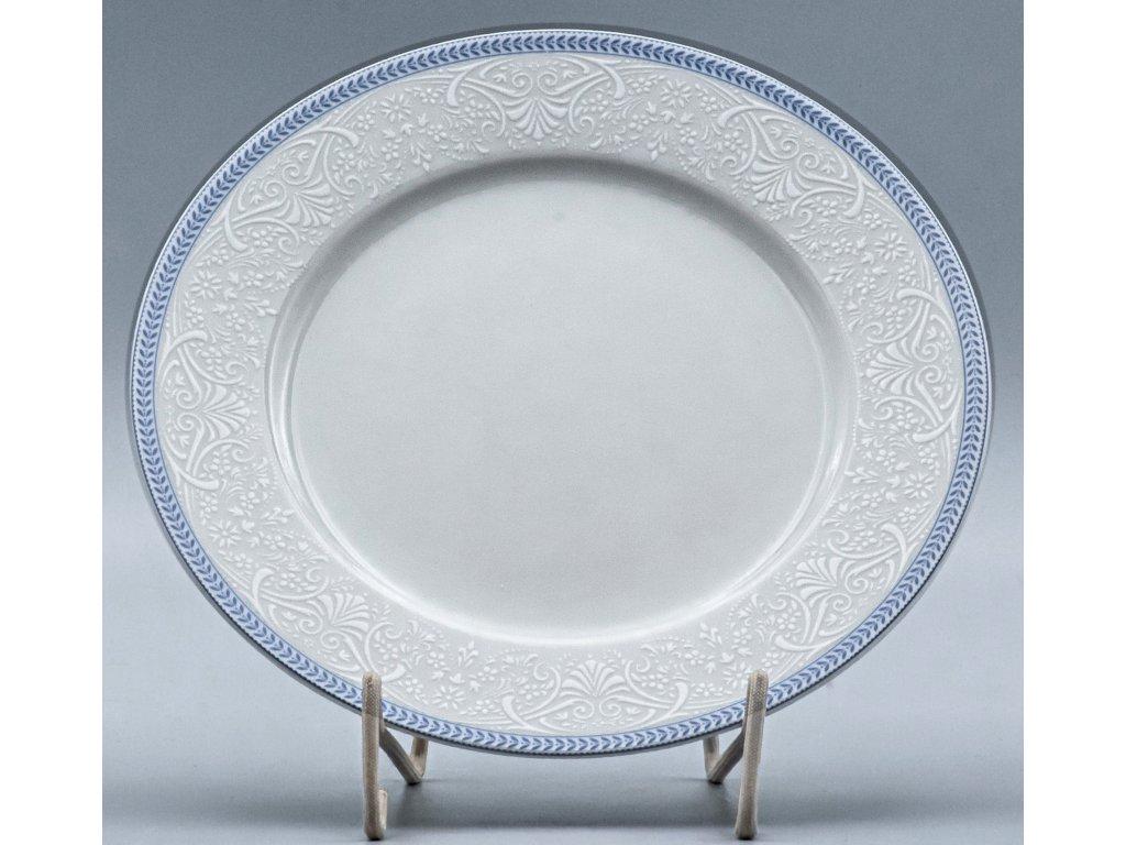 OPAL svatební modrá, Talíř mělký NINA 27 cm, krajka, Thun