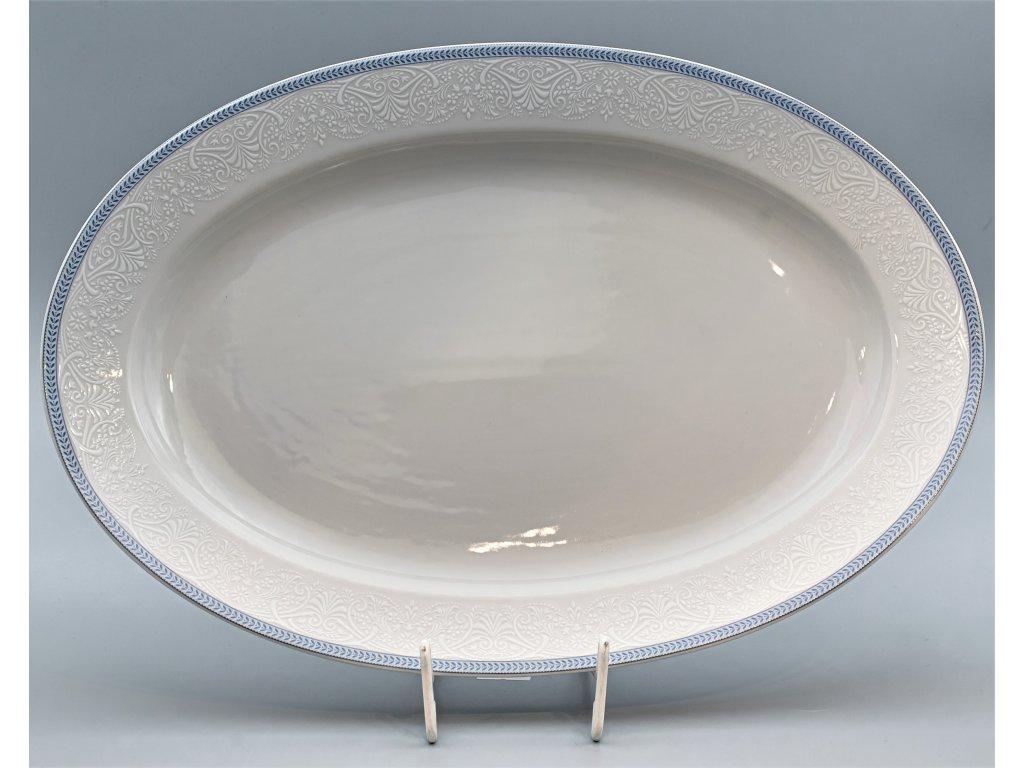OPAL svatební modrá, Mísa oválná JANA 36 cm, krajka, Thun