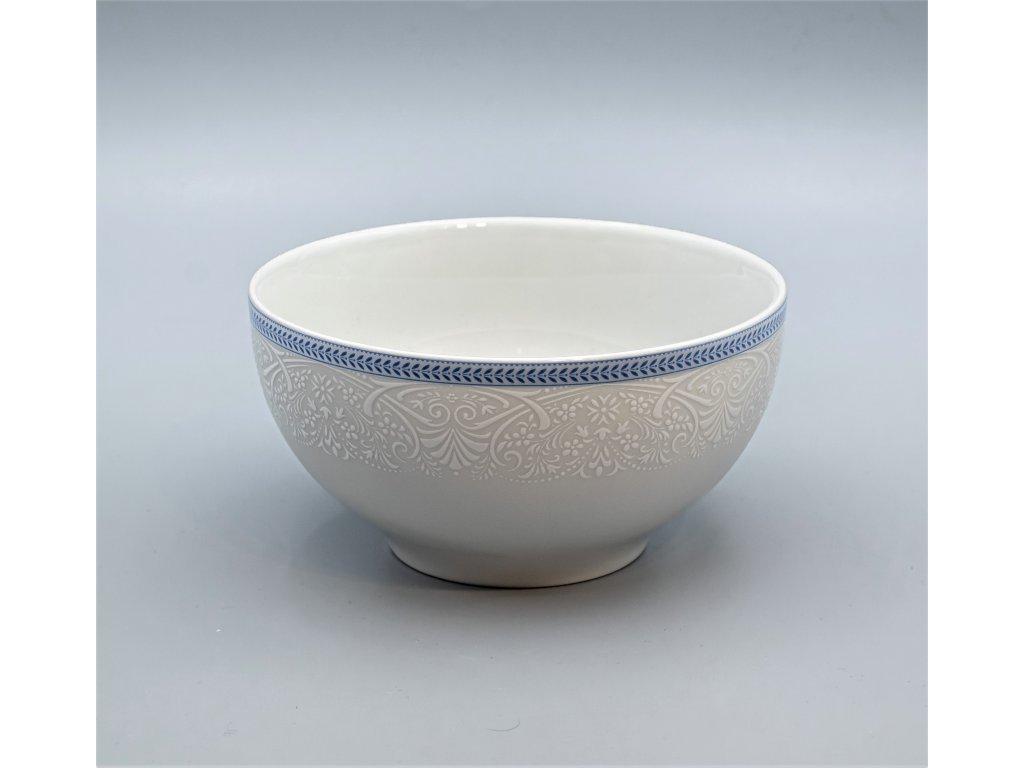 OPAL svatební modrá, Miska VITAL 700 ml, krajka, Thun