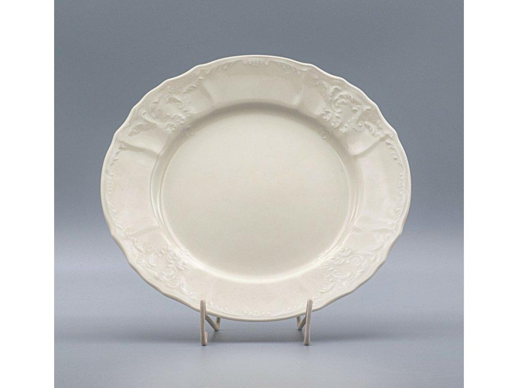 BERNADOTTE, Talíř mělký 25 cm, Ivory, Thun
