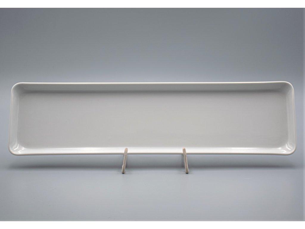 Hotelový podnos hranatý 41 cm, bílá, Thun