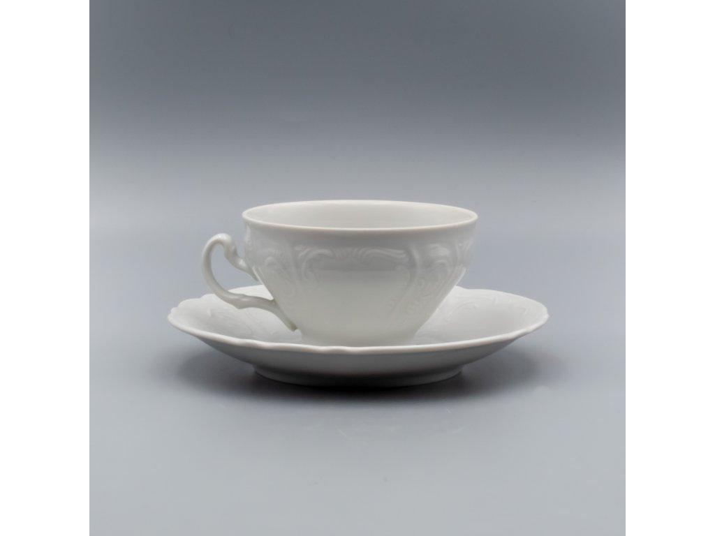BERNADOTTE, Šálek s podšálkem čajový nízký 205 ml, bílá, Thun