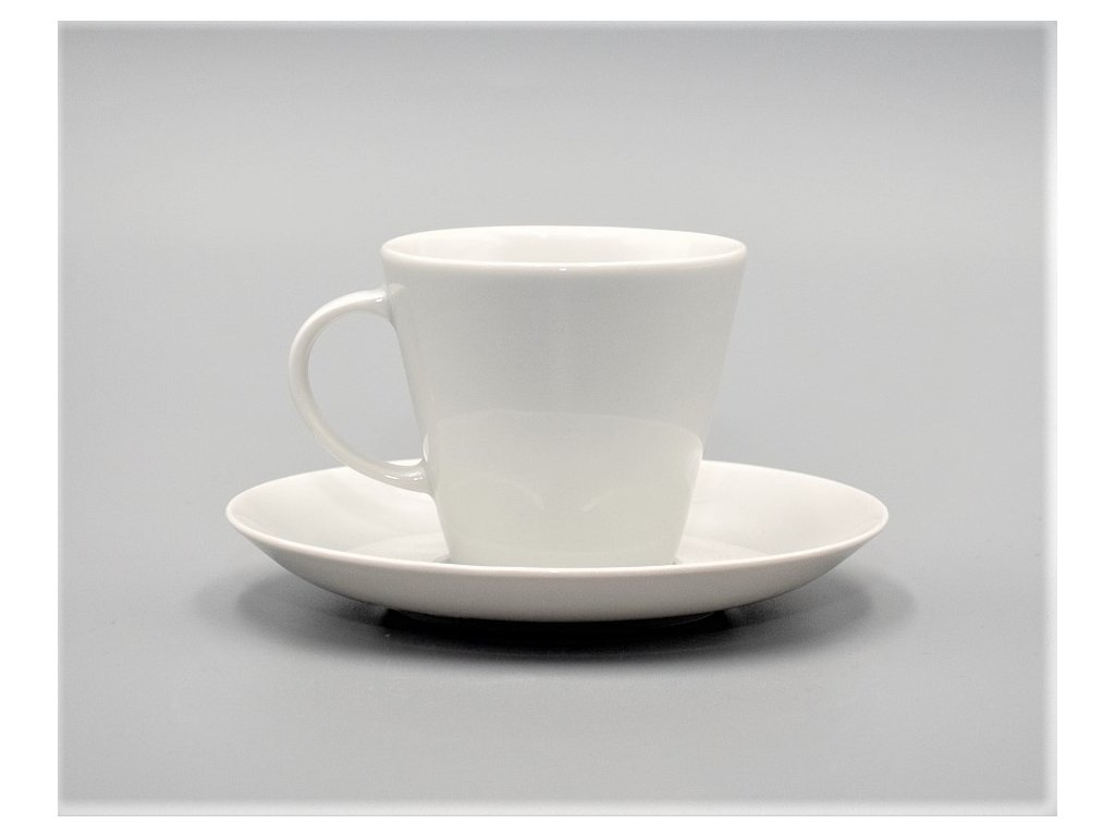 TOM, Šálek s podšálkem čajový 260 ml, bílá, Thun
