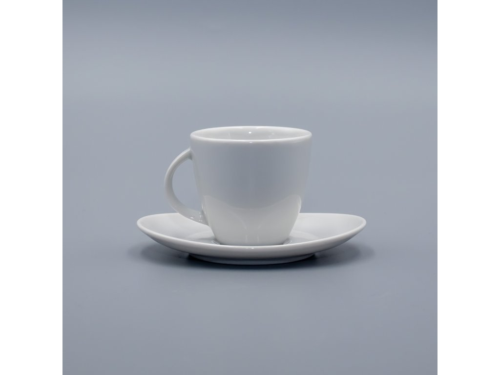 LOOS, Šálek s podšálkem espresso 90 ml, bílá, Thun