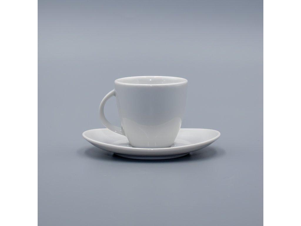 LOOS, Šálek s podšálkem čajový 220 ml, bílá, Thun