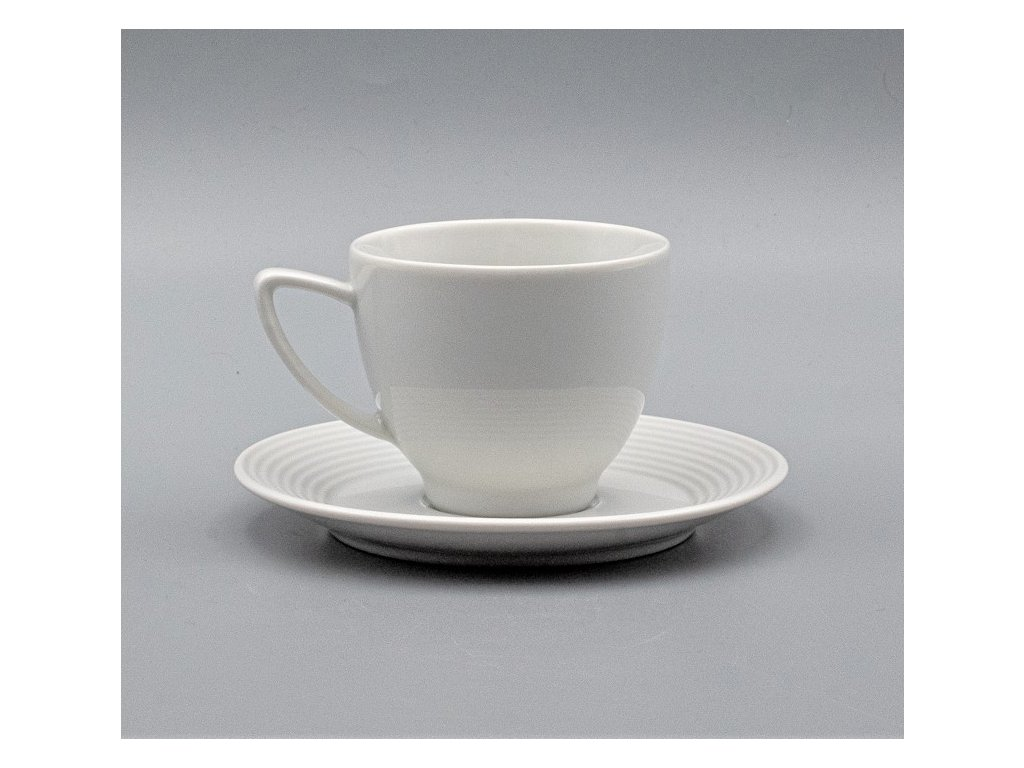 LEA, Šálek s podšálkem kávový 150 ml, bílá, Thun