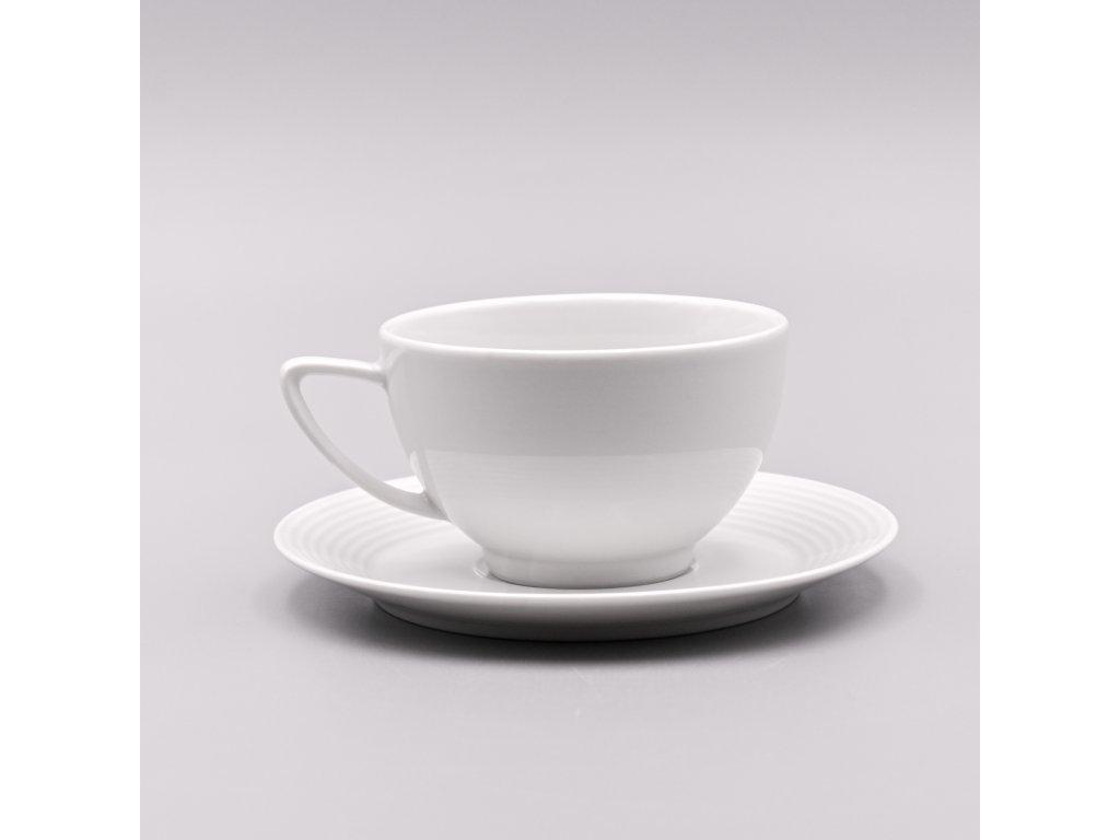 LEA, Šálek s podšálkem čajový nízký 240 ml, bílá, Thun
