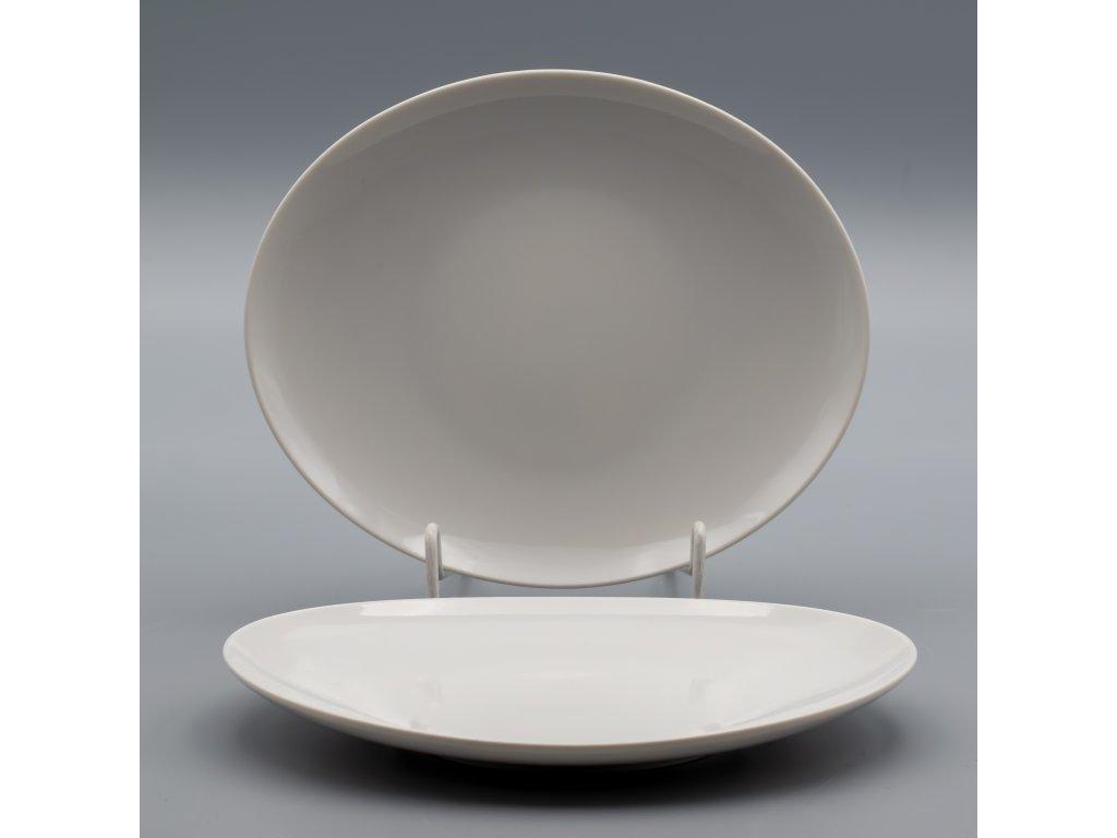 LOOS, Talíř dezertní 21 cm, bílá, Thun