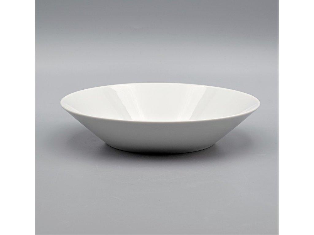 TOM PR., Talíř huboký 22 cm, bílá, Thun, základ LEA bez proužků