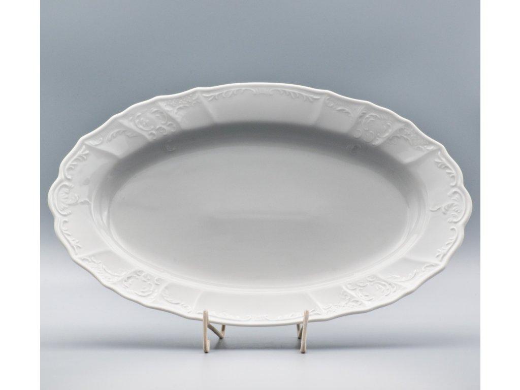 BERNADOTTE, Mísa oválná 36 cm, bílá, Thun