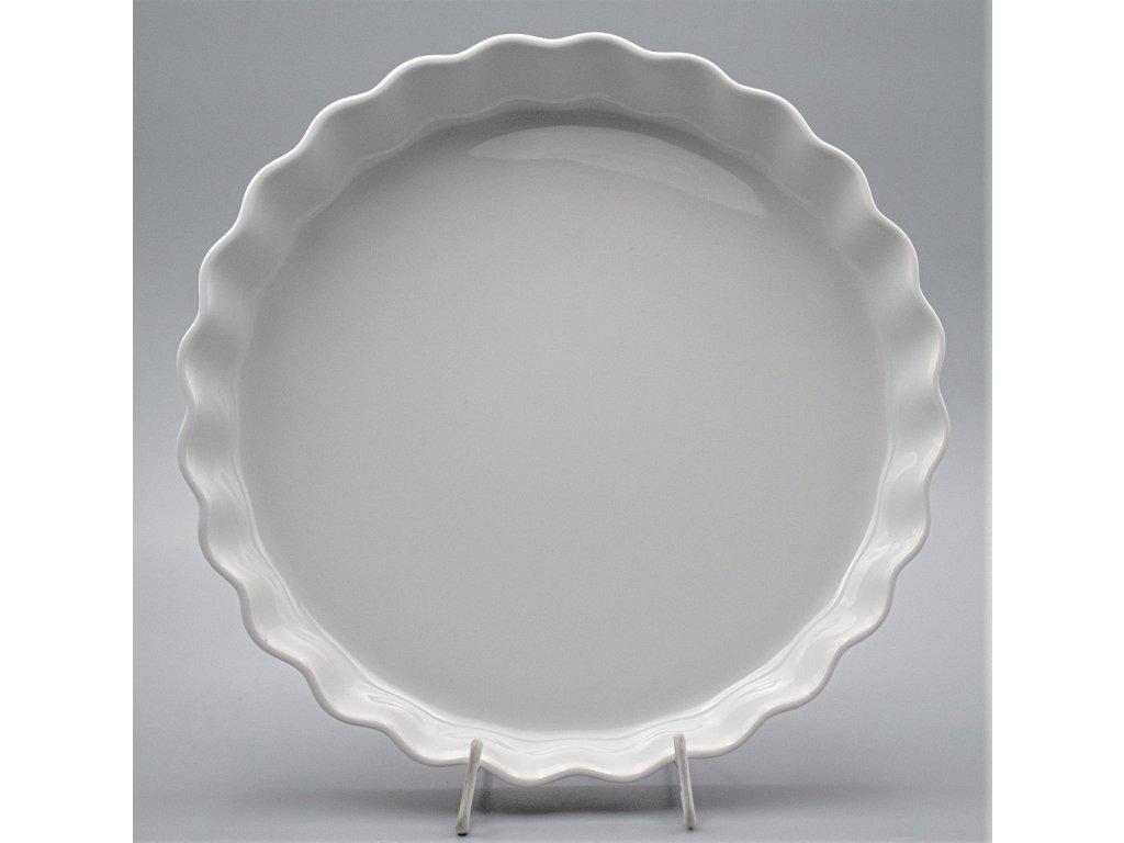 Zapékací mísa kulatá koláčová 30 cm, bílá, Thun