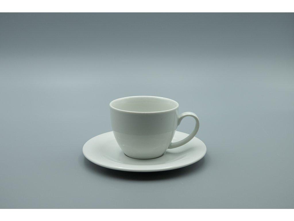 Šálek s podšálkem CARLO 425 ml, bílá, Thun