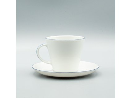 TOM modrá linka, Šálek s podšálkem kávový 200 ml, Thun